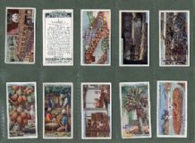 Cigarette cards set  Products of the World 1928 Pearls,Coffee,